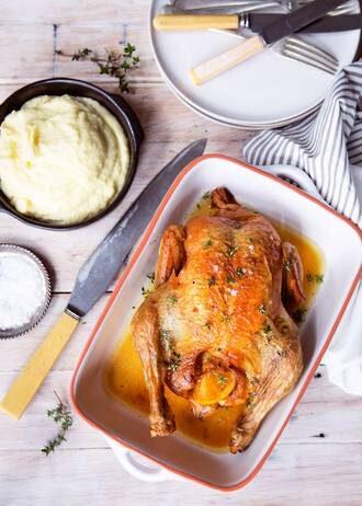 Roast Chicken With Celeriac Mash