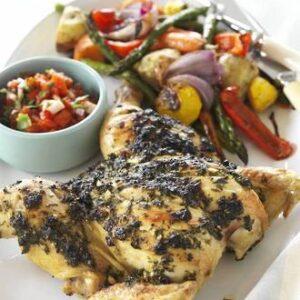 Rangitikei Roast Chicken With Basil & Coriander Crust